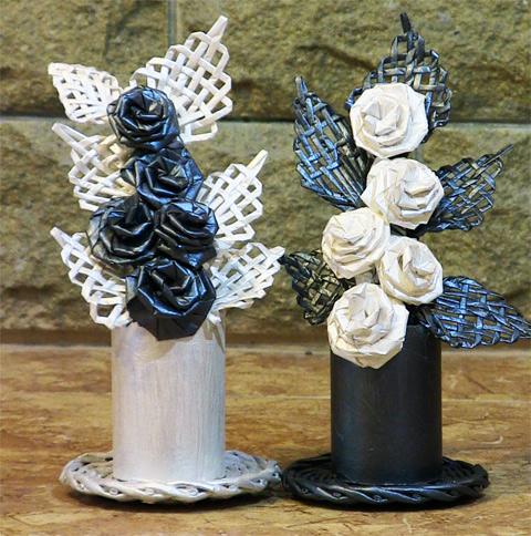 Cestería con periódicos - Flores de papel, hechas con sus propias ...