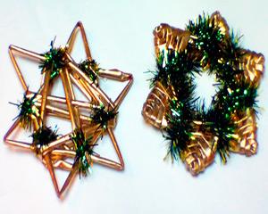 Como tejer los adornos navidenos de papel reciclado parte - Adornos navidenos papel ...